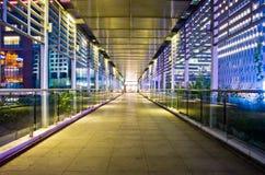 Мост на ноче Гуанчжоу Стоковая Фотография