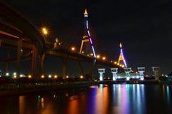 Мост на ноче Стоковое фото RF