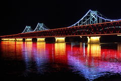 Мост на ноче стоковое фото