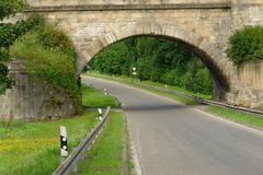 Мост над дорогой Стоковые Фото