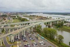 Мост над островом Стоковая Фотография