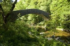 Мост на долине Lyn Стоковое фото RF
