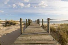 Мост на песке Стоковое фото RF