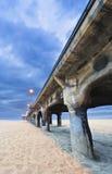 Мост на пляже Стоковые Фотографии RF