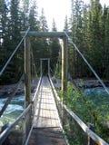 мост над подвесом реки Стоковые Изображения RF