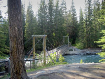 мост над подвесом реки Стоковые Фото