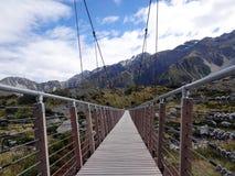 мост над подвесом реки Стоковое фото RF