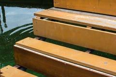 Мост над прудом Стоковые Фото
