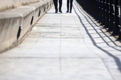 Мост на пляже Стоковая Фотография