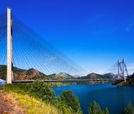 Мост над резервуаром районов de луны Стоковое Изображение