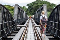 Мост на реке Kwai, Kanchanaburi, Таиланде Стоковое фото RF