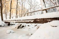 Мост над рекой в долине Стоковые Фотографии RF