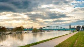 Мост над Рекой Сава Стоковые Изображения