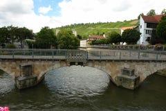 Мост над рекой Rossneckarkanal Стоковые Изображения RF