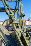 Мост над рекой Sado alcacer делает sal Португалии стоковое изображение