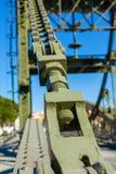 Мост над рекой Sado alcacer делает sal Португалии стоковая фотография rf