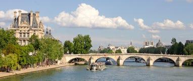 Мост над Сеной, Парижем Францией Стоковые Фотографии RF