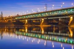 Мост на сумраке Стоковое Изображение