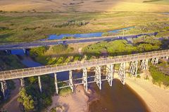 Мост на Kilcunda, Виктории Стоковые Фотографии RF