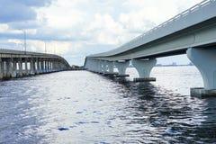мост на Tampa Bay Стоковая Фотография