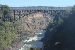Мост на Victoria Falls Стоковое фото RF