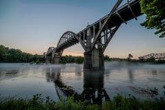 Мост 62 над White River стоковое фото