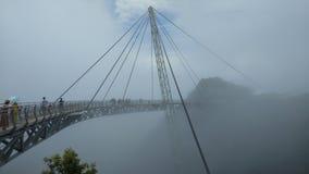 Мост неба и фуникулер, остров Langkawi, Малайзия сток-видео