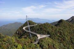 Мост неба Langkawi стоковое изображение rf