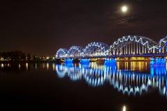 Мост ночи Стоковое фото RF