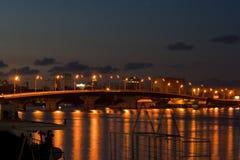 Мост ночи Стоковое Изображение