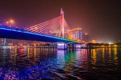 Мост ночи Стоковые Фотографии RF