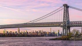 Мост Нью-Йорк Манхаттана акции видеоматериалы