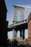 Мост Нью-Йорк Манхаттана Стоковая Фотография RF
