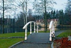 Мост около озера. Стоковые Изображения RF