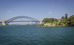 Мост дома Kirribilli & гавани Сидни стоковое изображение