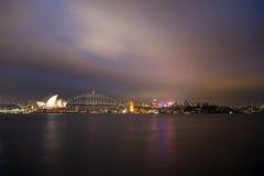 Мост оперного театра и гавани Сиднея Стоковое Изображение