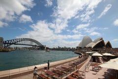 Мост оперного театра и гавани Сиднея Стоковая Фотография