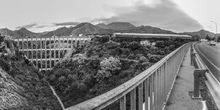 Мост орла в Nerja, Малаге панорамно стоковые фото