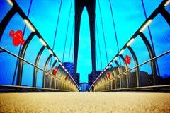мост осветил Стоковая Фотография RF