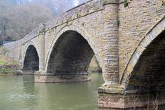 Мост осени над рекой Стоковое фото RF