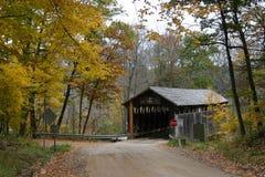 мост осени покрыл белизны Стоковая Фотография RF