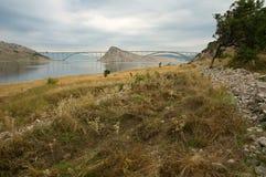 Мост острова Krk Стоковая Фотография