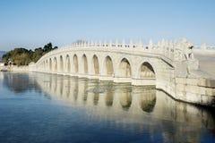 Мост 17 отверстий на летнем дворце Стоковые Фото