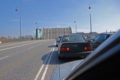 мост открытый Стоковое Изображение
