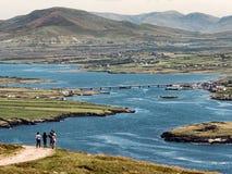 Мост от Portmagree к острову Valentia, Ирландии стоковое изображение rf