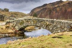 Мост лошади пакета Watendlath Стоковое Фото
