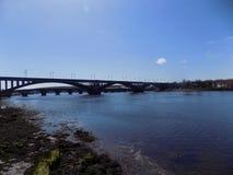 Мост одежды из твида, Berwick- на одежде из твида, Нортумберленде, Англии Великобритания Стоковая Фотография