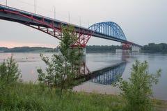 Мост до река Yenisei Стоковое Изображение