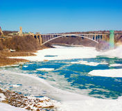 мост падает радуга niagara Стоковое Фото