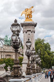 Мост Париж франция Александра III Стоковые Фотографии RF